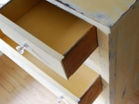 Yellow Distressed Dresser
