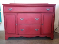 Stunning Cranberry Sideboard