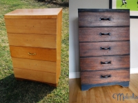 Industrial chic dresser before & after
