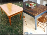 Rustic Farm Table before & after