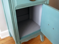 Vintage side table with cupboard