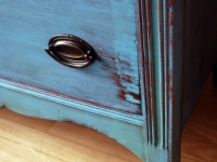 Distressed Tallboy in Provence Blue