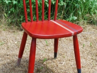Racing Stripey Red Chair with dipper legs