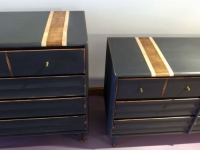 Graphite MCM dressers with natural wood stripe