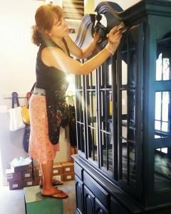 Cristina painting