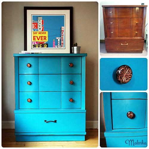 Retro Turquoise Dresser | Malenka Originals