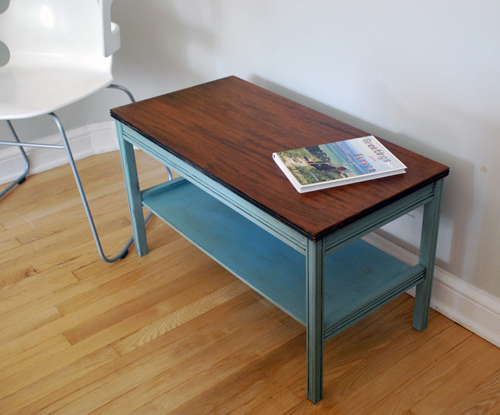 Refreshed vintage coffee table