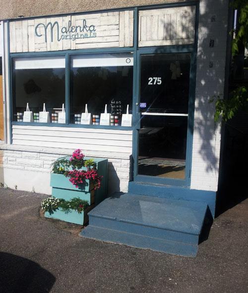 Malenka Originals shop in Ottawa