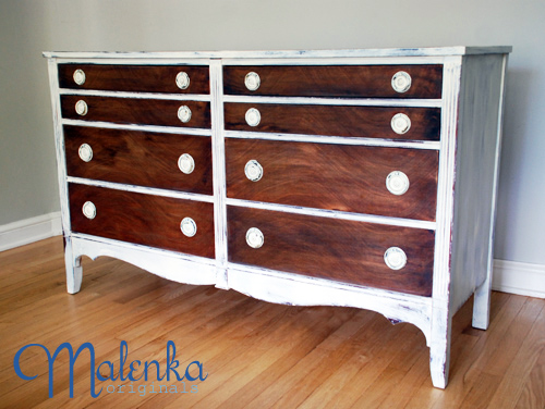 Wood and White Dresser