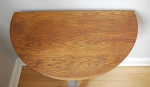 Halfmoon table top