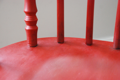 Red Rocker back detail