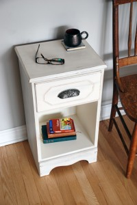 milk painted side table