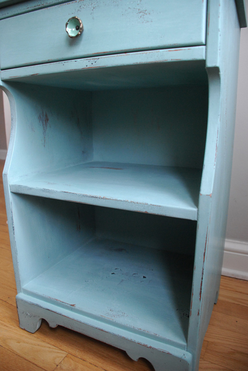 small cupboard inside distressing