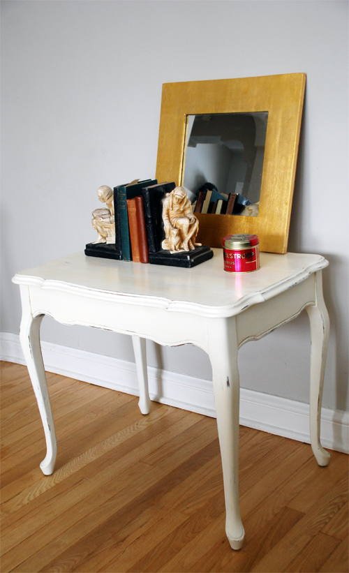 French-style solid maple coffee table