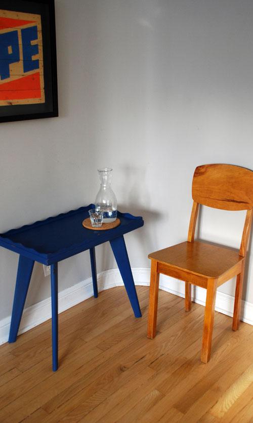 Retro blue coffee table