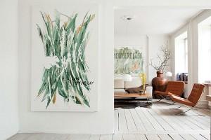 Lovely white floorboards