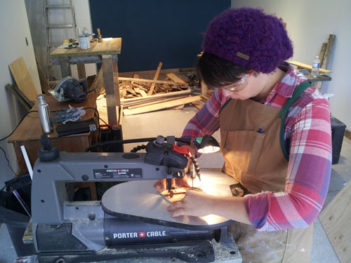 Taylor and the scroll saw
