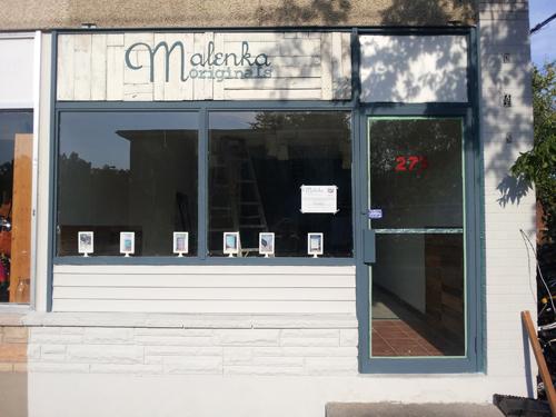 Store front in progress