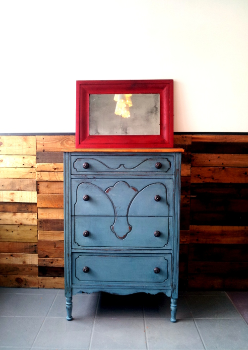 Milk Painted dresser and mirror