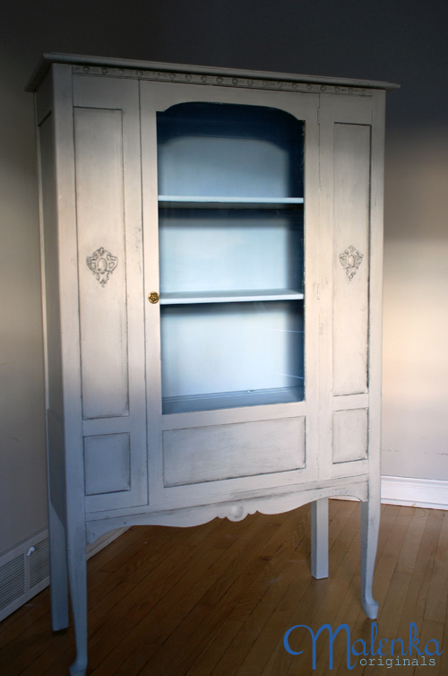 Paris Grey China Cabinet