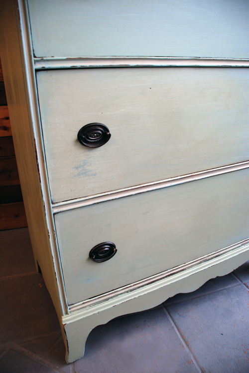 Miss Mustard Seed Milk Paint mint green dresser