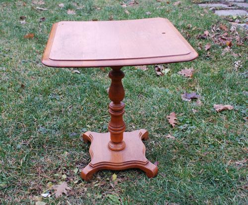 Graphite pedestal table small