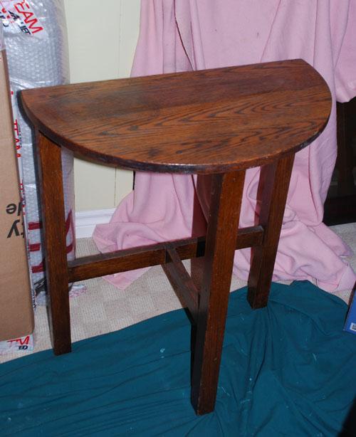 Half Moon table before