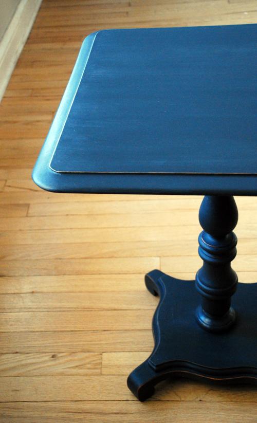 Graphite pedestal table