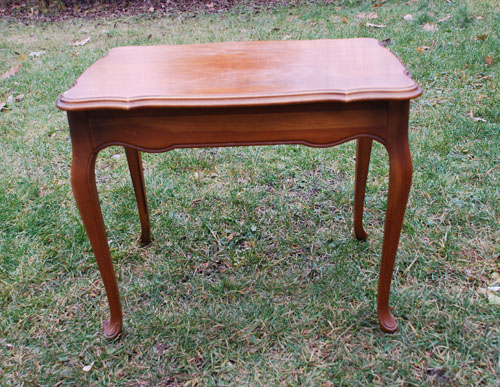 white french coffee table before small