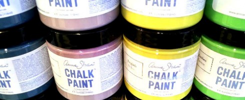 Chalk Paint sample pots at Malenka Originals