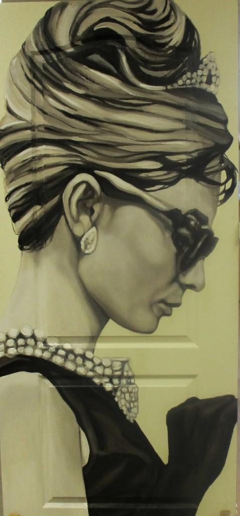 Audrey-Hepburn-door by Celeste Keller