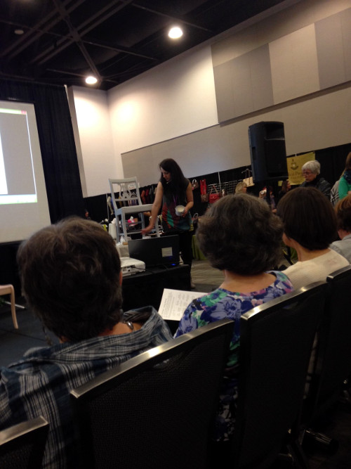 Katrina presentation at the National Women's Show