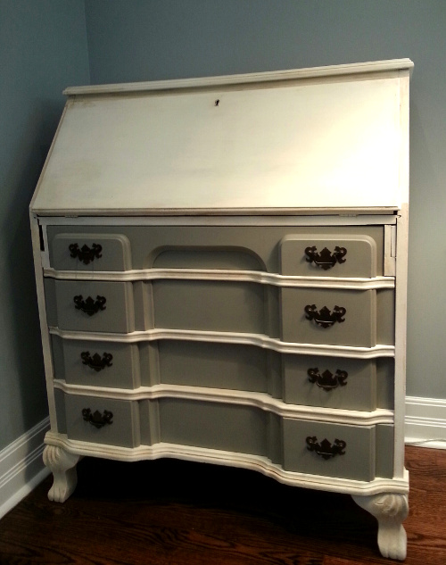 Secretary after in French Linen and Old White