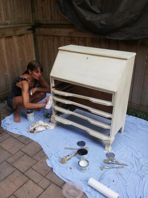 Jessica working