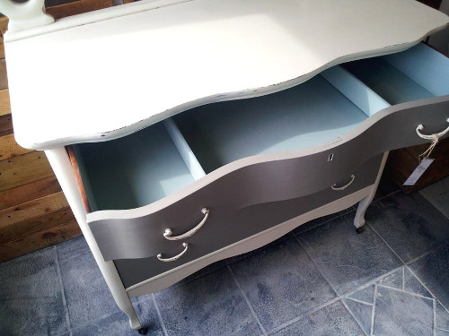 Duck Egg inside drawers