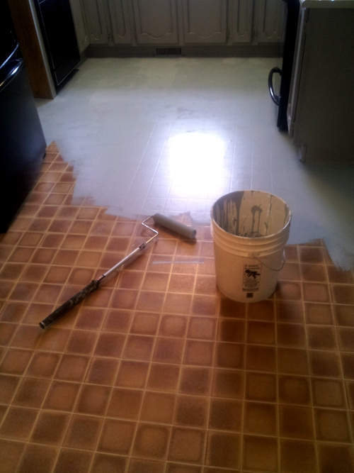 Painting Linoleum Floors With Chalk Paint