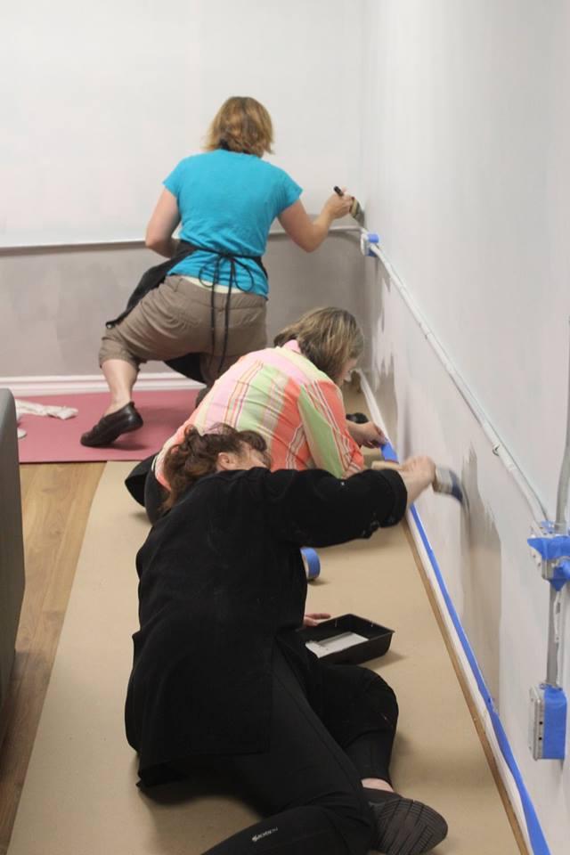 brushing walls